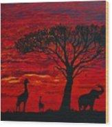Desert Sunset 3 Wood Print