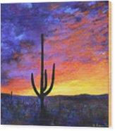 Desert Sunset 4 Wood Print
