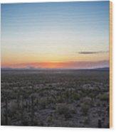 Desert Sunset #5 Wood Print