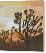 Desert Sunset II Wood Print