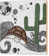 The Desert Tortoise Wood Print