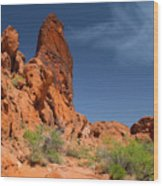 Desert Tower Valley Of Fire Wood Print