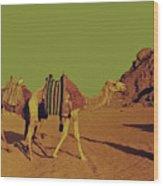 Desert Trek Wood Print