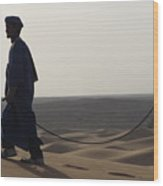 Desert Trek, Sahara Desert Wood Print