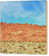 Desert Valley Of Fire Wood Print