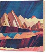 Desert Valley Wood Print