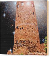 Desert View Tower, Starry Night, Grand Canyon Wood Print