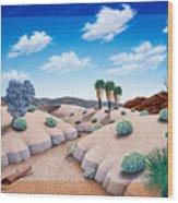 Desert Vista 2 Wood Print by Snake Jagger
