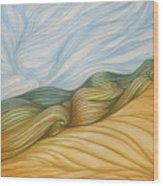 Desert Waves Wood Print