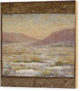 Desert Winter Wood Print