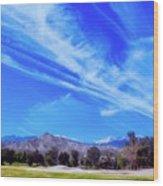 Desert Winter Sky Wood Print