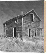 Deserted Home On The Range Wood Print