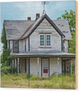 Deserted Oklahoma Farmhouse Wood Print