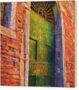 Deserted Venice  Wood Print