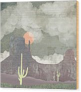 Desertscape Wood Print
