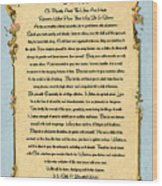 Desiderata Poem On Antique Paris Postcard Wood Print