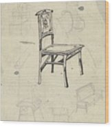 Design For A Chair, Carel Adolph Lion Cachet, 1874 - 1945 Wood Print