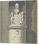 Design For A Monument To C. Brunings A Bust In A Niche, Bartholomeus Ziesenis, 1806 Wood Print