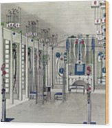 Design For A Music Room With Panels By Margaret Macdonald Mackintosh Wood Print