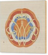 Design For A Plate With A Crowned W, Carel Adolph Lion Cachet, 1874 - 1945 Wood Print