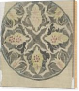 Design For A Plate With Floral Decoration, Carel Adolph Lion Cachet, 1874 - 1945 Wood Print