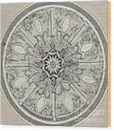 Design For An Inlaid Circular Table Top, With Alternatives Wood Print