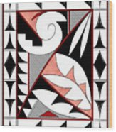 Southwest Collection - Design Four In Red Wood Print