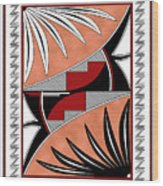 Southwest Collection - Design Three In Red Wood Print