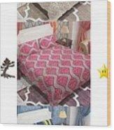 Designer Bed Sheet To Decor Home Wood Print