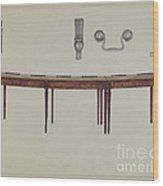 Desk (in Two Sections) Used By Members Of Congress Wood Print