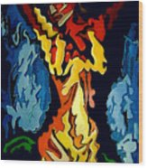 Desnuda Azul Wood Print