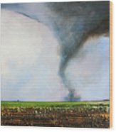 Desolate Tornado Wood Print