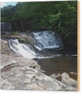 Desoto Falls In Alabama Wood Print