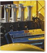 Desoto Firedome Eight Engine Wood Print