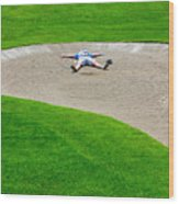 Desperate Golfer Wood Print