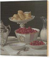 Dessert Still Life, 1855 Wood Print