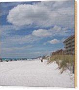 Destin Beach Wood Print