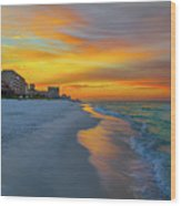 Destin Sunrise Wood Print