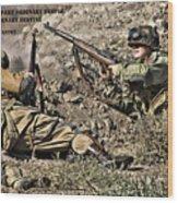 Destiny - Us Army Infantry Wood Print
