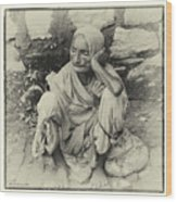 Destitute On The Ganges Wood Print