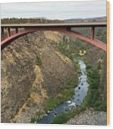 Desutches River Bridge Wood Print