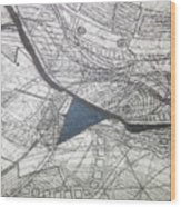 detail, ''Blues'' Wood Print