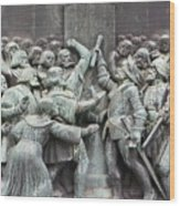Detail From The Reformation Monument In Copenhagen Wood Print