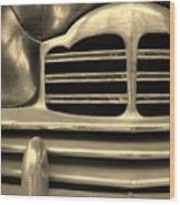 Detail Of An Old Car Wood Print