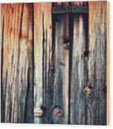 Detail Of An Old Wooden Door Wood Print