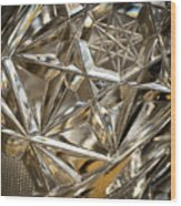 Detail Of Cut Glass Wood Print