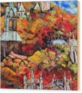 Detail Of Fall Wood Print