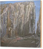 Detail Of Landscape 1/3 Wood Print