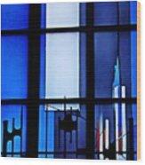 Detail Of Modern Johannes Schreiter Window Mainz 2 Wood Print