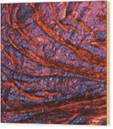 Detail Of Molten Lava Wood Print